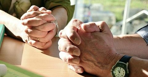 Faith healing Hands in prayer